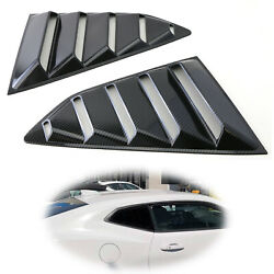 Carbon Racing Style Rear Side Window Scoop Vent Louvers For 2016-up Chevy Camaro
