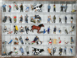 Preiser Ho 13001 Farm Set W/ Animals And Accessories 60 Painted Figures
