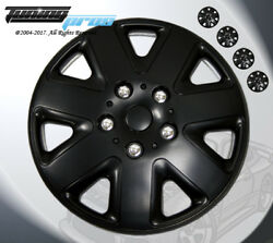 17 Inch Matte Black Hubcap Wheel Cover Rim Covers 4pc Style Code 026 17 Inches