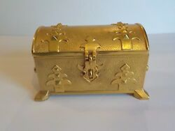 19th C. Russian Gilt Bronze Jewelry Casket Box C. Early 1900and039s