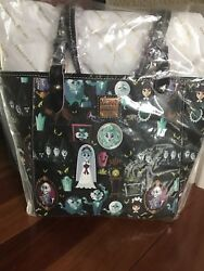 Nwt Disney Dooney And Bourke Haunted Mansion Tote Purse and Wallet