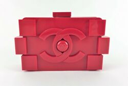CHANEL RED LEGO CLUTCH BAG (MAX077879)
