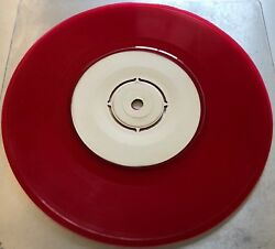 Iron Maiden Number Of The Beast Rare 7 Test Pressing Promo Coloured Red Vinyl