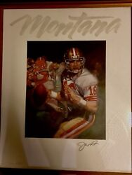 Joe Montana Framed Autographed Super Bowl Xxiv Lithograph Game-used Cleat Print