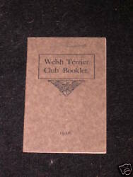 VERY RARE WELSH TERRIER DOG BOOK 1926 BY CLUB
