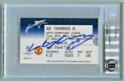 WAYNE ROONEY signed FIRST MANCHESTER UNITED GAME TICKET (2004) HAT-TRICK BECKETT