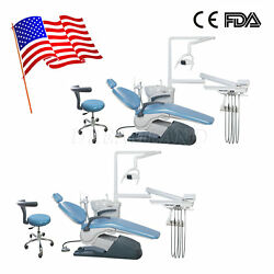 2*Dental Unit Chair Thermostatic Water Supply Computer Controlled Dentist Stools