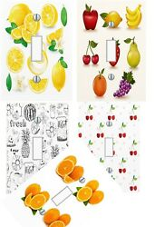 LIGHT SWITCH PLATE COVER Fruit Kitchen Wall Art Unique GIFT - Pick Your Theme -