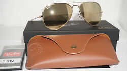 New Sunglasses Aviator 24k Carat Gold Only 500 Limited Rb3025 135