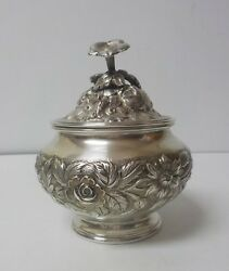 S. Kirk And Son Repousse Sterling Silver Lidded Sugar Bowl, 305 Grams