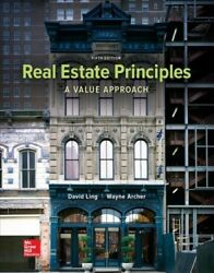 Real Estate Principals Hardcover By Ling David C. Brand New Free Shipping...