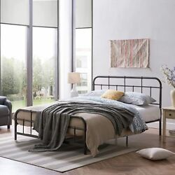 Sylvia Queen-size Iron Bed Frame Minimal Industrial
