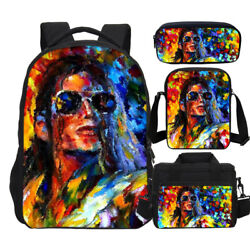 King of POP Michael Jackson Backpack Insulated Lunch Box Cross Bags Pen Case Lot $23.99