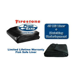 Firestone 45 Mil Epdm Pond Liner And Pro 8oz Underlay - 500 Sf+ Sizes Freight Only