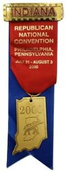 2000 Republican National Convention Indiana Badge