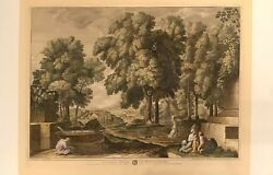 Chalcographie Louvre Nicholas Poussin S.baudet Traveler Washing Feet At Fountain