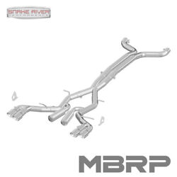 Mbrp Exhaust 2016-2019 Chevy Camaro 6.2l 6 Speed Dual Quad Tips Race Version