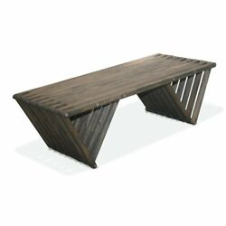 GloDea Xquare X90 Large Wooden Patio Coffee Table