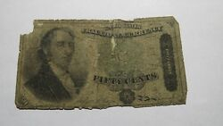1863 .50 Fractional Currency Note Fifty Cent Bill Bank Stamp Act Civil War