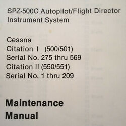 Sperry Spz-500c In Cessna Citation I And Citation Ii Service Manual
