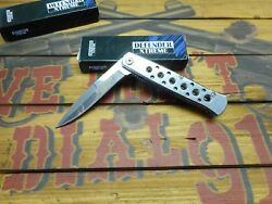 Lot of 2 Defender Xtreme Stiletto Style Assisted Open Pocket Knives  5796