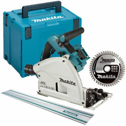 Makita Dsp600zj 36v Brushless Plunge Saw With 1.5m Guide Rail + 48t Blade And Case