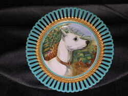 ANTIQUE BULL TERRIER OIL PAINTING DOG PLATE  PLAQUE 1890 G EARL SUPERB QUALITY
