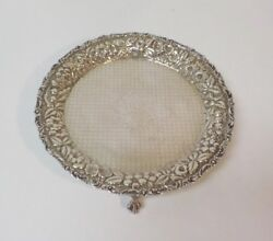 Baltimore Sterling Silver Repousse 8 Footed Tray C. 1900 310 Grams