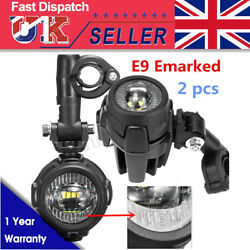 2x Spot Led Auxiliary Fog Light Driving Lamp Motorcycle For Bmw R1200gs F800gs
