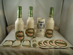 Holland Brand Beer Bottles, Stein, Coasters And Bottle Opener Displayed With Box