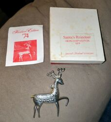 Oneida Sterling Silver 1974 Cupid Reindeer Pin or Pendant Necklace 3 Inches RARE