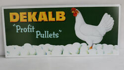 Vintage DEKALB PELLETS Chicken Farm Sign