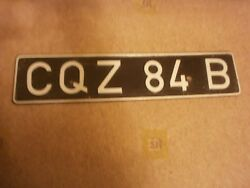 British Forces In Germany 1960s Vintage Cqz 84b Rare License Plate