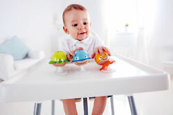 Hape E0330 Sea Animals Rattle Set With Suckers Baby Babies Infant Age 0 Months+