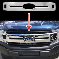2018 2019 Ford F150 XL CHROME Snap On Grille Overlay Full Grill Cover Insert New