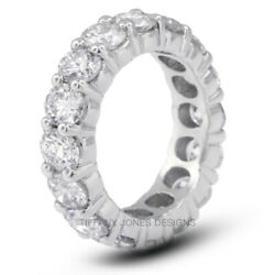 6.30ct tw G-SI1 VG Round Natural Diamonds 18k Gold Classic Eternity Band 7.4gram