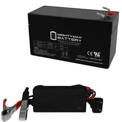 Mighty Max 12v 1.3ah Battery Replacement For Dramec Yj69a + 12v Charger