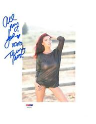 Tera Patrick Signed Autographed 8.5x11 Photo W/coverup Psa/dnaac62720