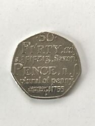 2005 Samuel Johnsonand039s Dictionary 1755. Saxon Plural Of Penny 50p Fifty Pence