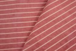 Ticking Fabric Antique Vintage French Salmon Dusty Pink Striped Mattress Cover