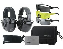 Titus B4 Top Safety Earmuff And Glasses Combos Work/recreational Safety Equipment