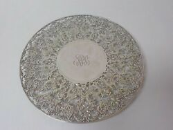 Roger Williams Sterling Silver Reticulated 11 Cake Dessert Plate 525 Grams