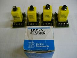 4 Potter Brumfield Adjustable Timer Relays And Sockets