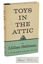Toys In The Attic By Lillian Hellman Signed First Edition 1960 Play 1st