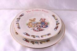 6teddies Picnic By Donegal Parian Ireland Child Plate And Rimmed Bowl Fine China
