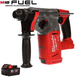 Milwaukee M18chx-0 18v Fuel Brushless Sds+ Hammer Drill With 1 X 5.0ah Battery