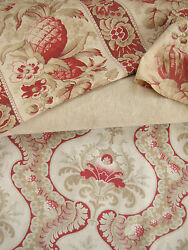 Antique Vintage French Fabric Coordinating Ticking / Fabric 19th Century Period