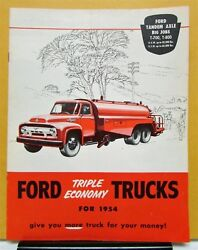 1954 Ford Truck Model T 700 800 Sales Brochure And Specifications