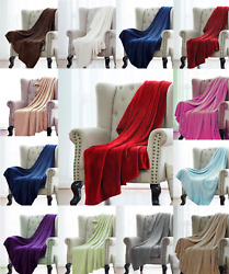 Super Soft Light Weight Coral Fleece Warm Throw Blanket for Couch Sofa Bed Chair $11.75
