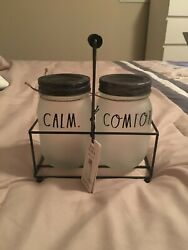 Rae Dunn Jars And Holder New Calm And Comfort